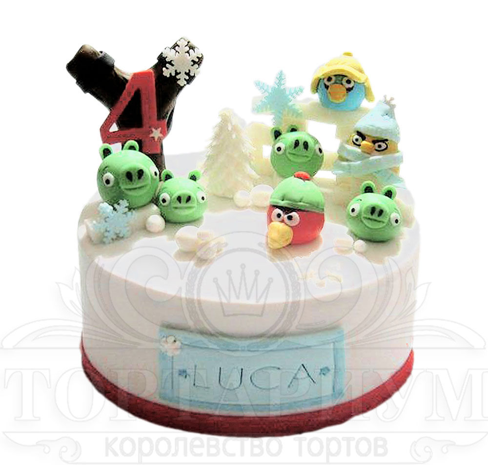 Торты Angry Birds (Злые птицы) на заказ в Москве