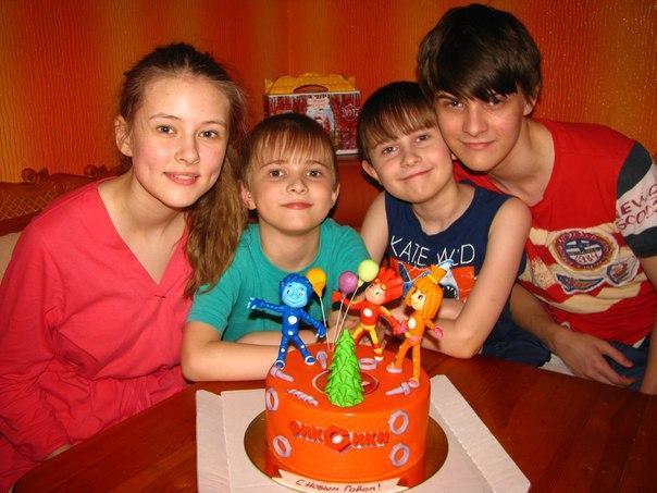 Дети семьи Максимовых