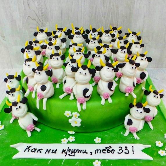 Торт 33 коровы весом 5 кг