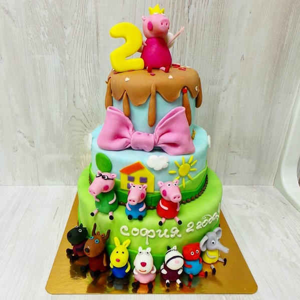 Торт Свинка Пеппа весом 6 кг
