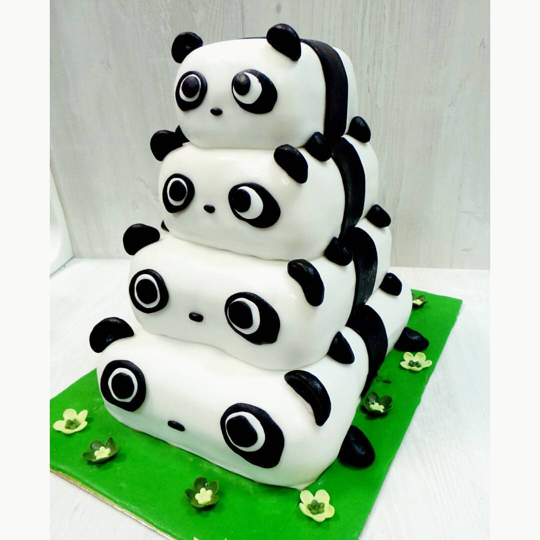 Торт Панды из мастики весом 6 кг