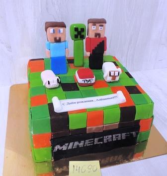 Торт Майнкрафт на день рождения мальчика