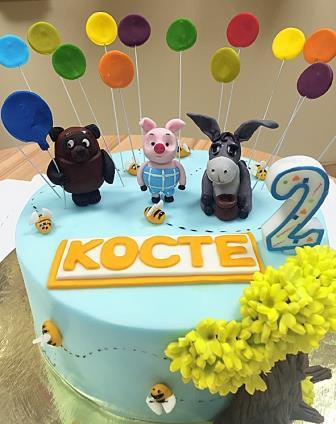 Торт Винни-Пух, Пятачок и ослик Иа