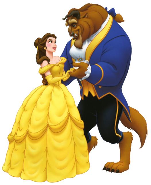 Герои мульфильма Красавица и Чудовище