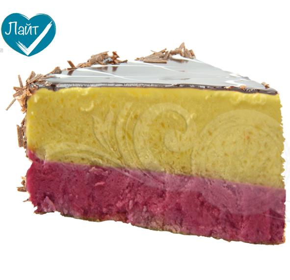 Торт с начинкой Малина-Манго